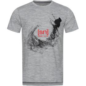 super.natural Graphic SS Tee Men ash melange/jet black freestyle